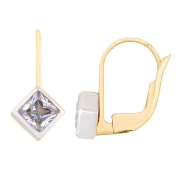 Kullast kõrvarõngad tsirkoonidega Kood: 110wp071
