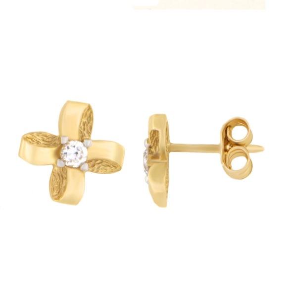 Kullast kõrvarõngad tsirkoonidega Kood: 147pa