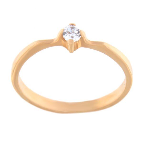 Kullast sõrmus tsirkooniga Kood: 297p