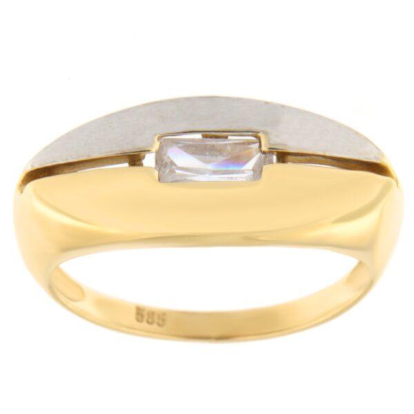 Kullast sõrmus tsirkooniga Kood: 42pcp
