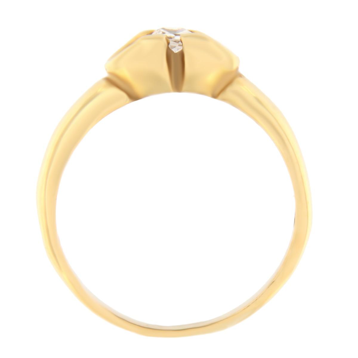 Kullast sõrmus tsirkooniga Kood: 431p