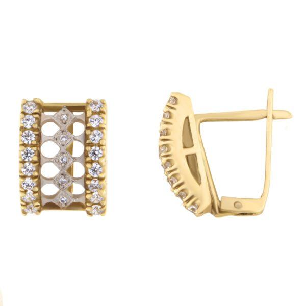 Kullast kõrvarõngad tsirkoonidega Kood: 843eppxy480