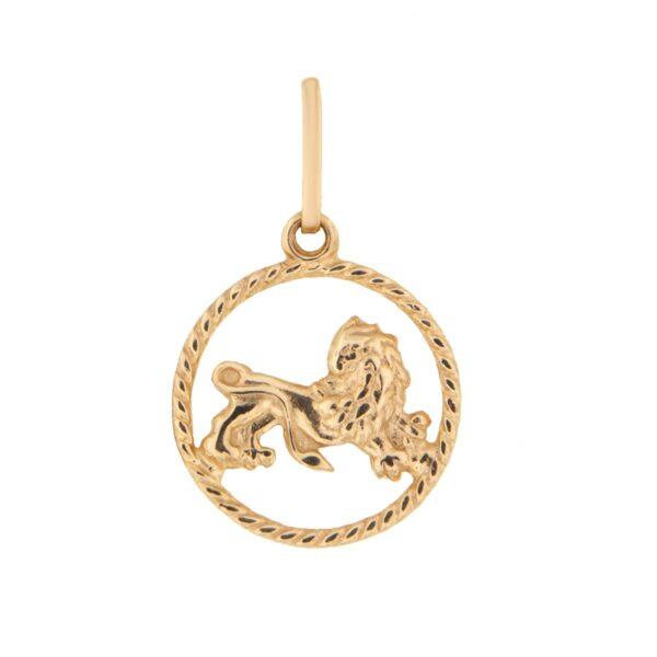 Kullast ripats, sodiaagimärk Kood: pn0106-lõvi