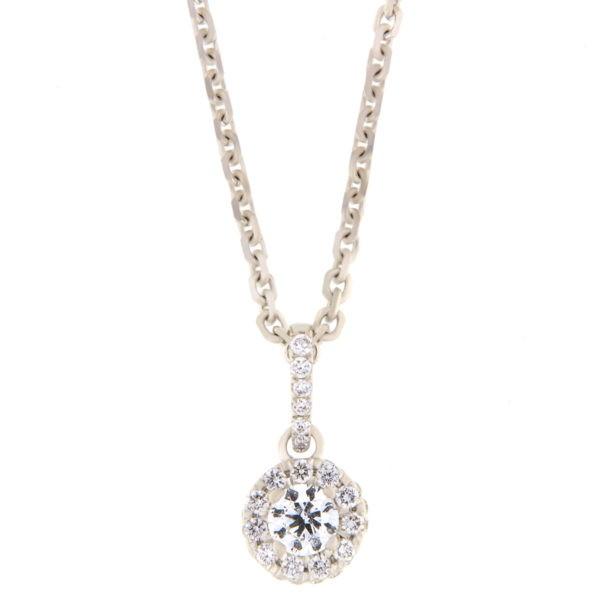 Kullast ripats teemantidega 0,50 ct. Kood: 45he