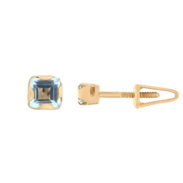 Kullast kõrvarõngad topaasiga Kood: er0105-topaas