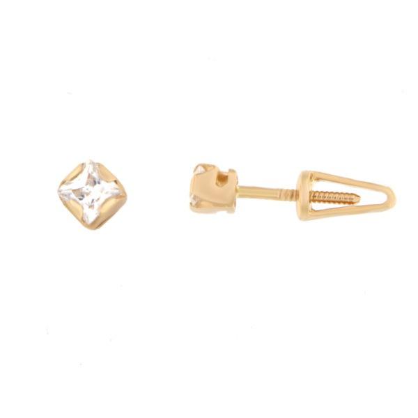 Kullast kõrvarõngad tsirkoonidega Kood: er0105-valge
