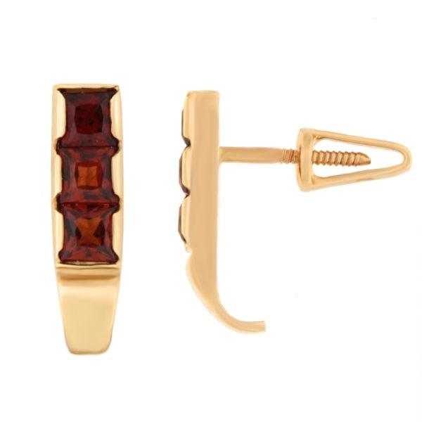 Kullast kõrvarõngad granaadiga Kood: er0106-granaat