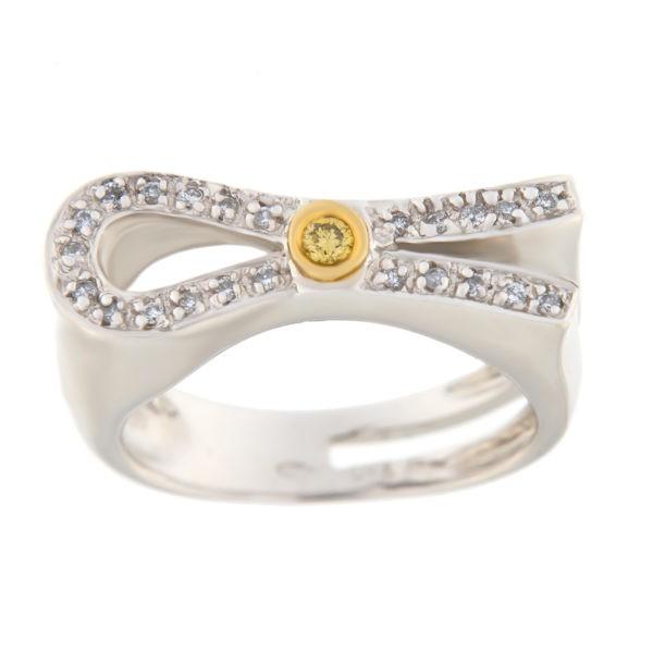 Kullast sõrmus teemantidega 1,00 ct. Kood: or73