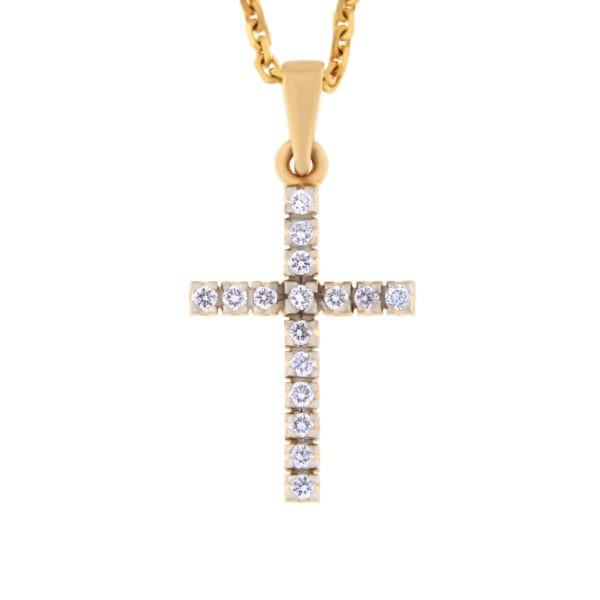 Kullast ripats teemantidega 0,25 ct. Kood: pn0310