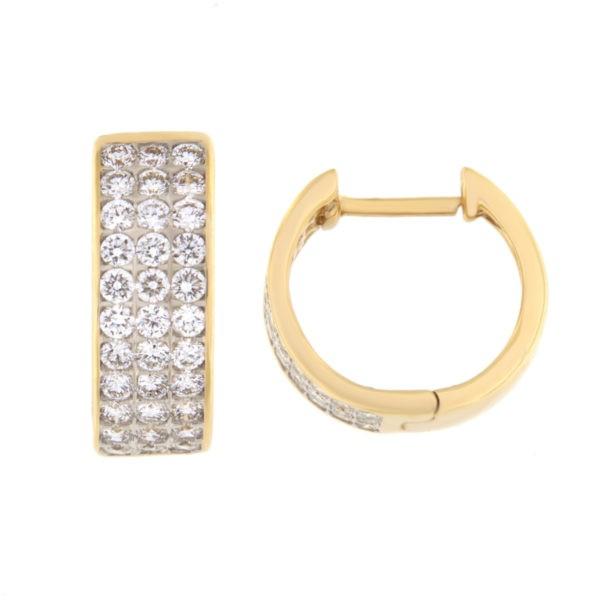 Kullast kõrvarõngad teemantidega 0,75 ct. Kood: 33he
