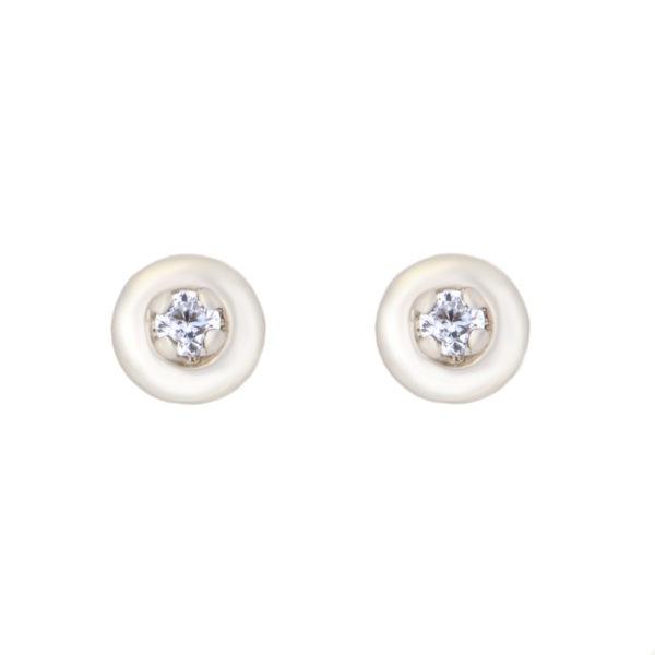 Kullast kõrvarõngad tsirkoonidega Kood: er0101-v