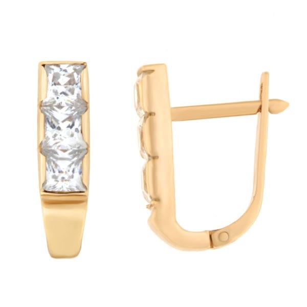 Kullast kõrvarõngad tsirkoonidega Kood: er0106-i-valge