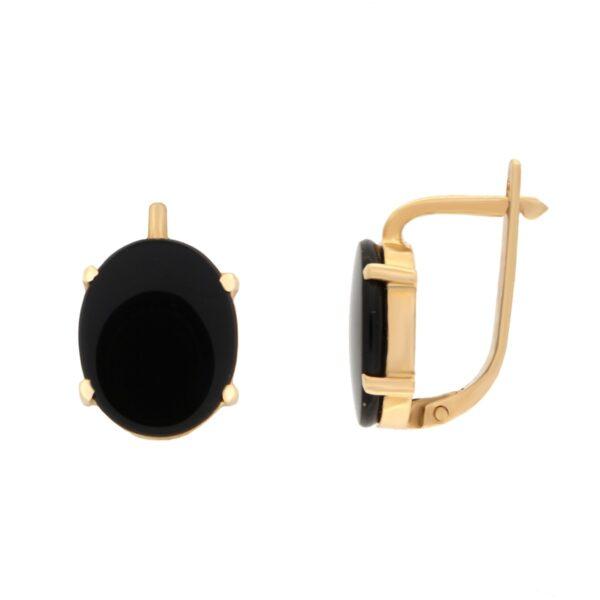 Kullast kõrvarõngad oonüksiga Kood: er0135-oonüks