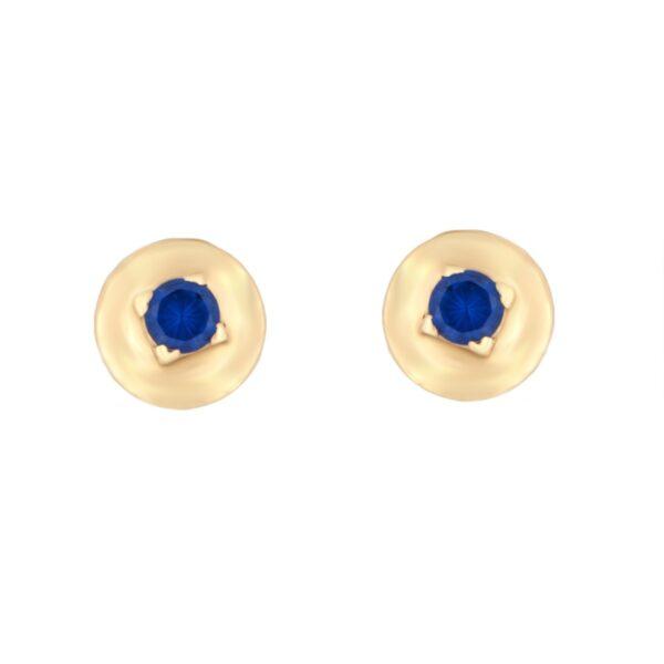 Kullast kõrvarõngad tsirkoonidega Kood: er0146-sinine