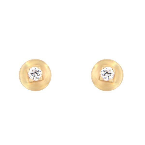 Kullast kõrvarõngad tsirkoonidega Kood: er0146-valge