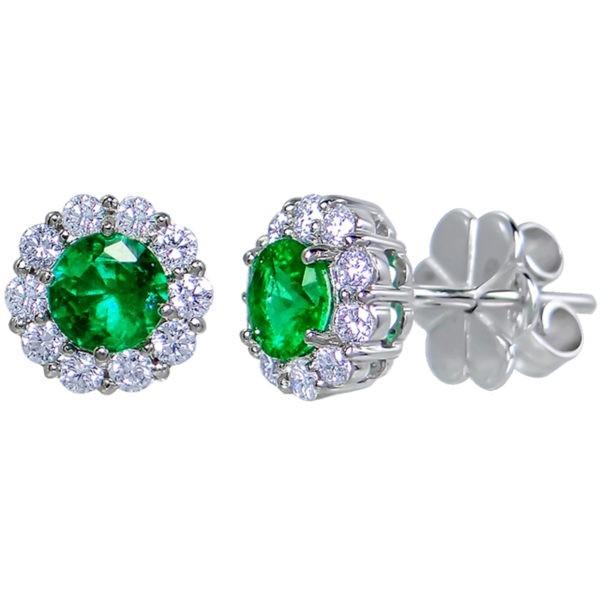 Kullast kõrvarõngad teemantide ja smaragdidega Kood: 38m