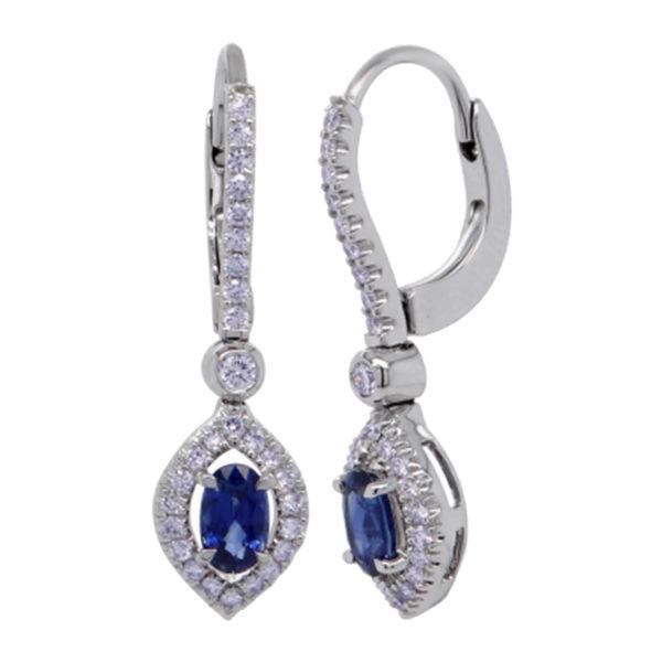 Kullast kõrvarõngad teemantide ja safiiridega Kood: 41m