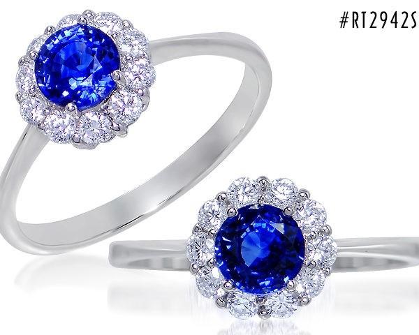 Kullast sõrmus teemantide ja safiiriga Kood: 16m