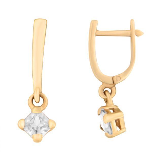 Kullast kõrvarõngad tsirkooniga Kood: er0153-147-valge