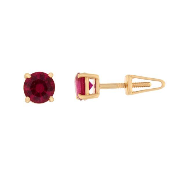 Kullast kõrvarõngad tsirkoonidega Kood: er0157-5-punane