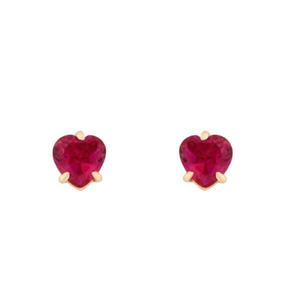 Kullast kõrvarõngad tsirkoonidega Kood: er0158-punane