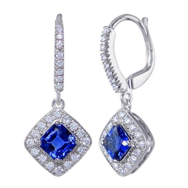 Kullast kõrvarõngad teemantide ja safiiridega Kood: 31m