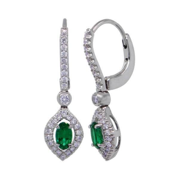 Kullast kõrvarõngad teemantide ja smaragdidega Kood: 42m