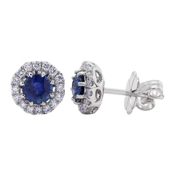 Kullast kõrvarõngad teemantide ja safiiridega Kood: 43m