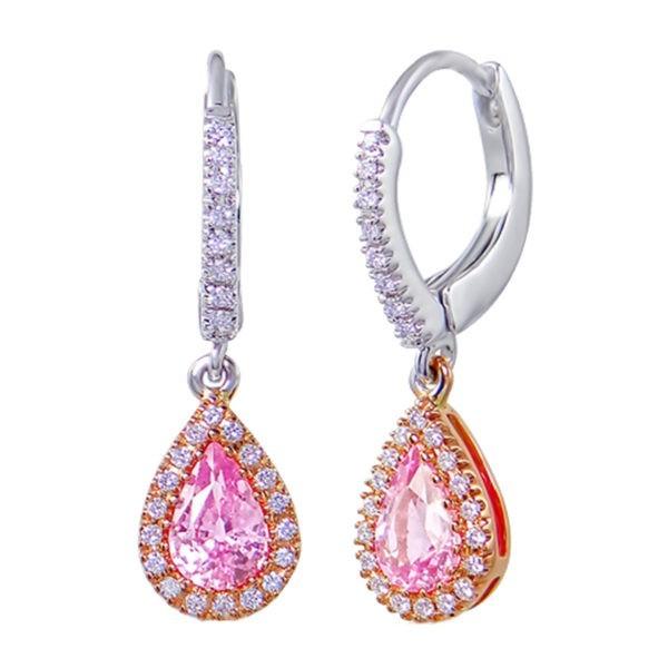 Kullast kõrvarõngad teemantide ja safiiridega Kood: 29m