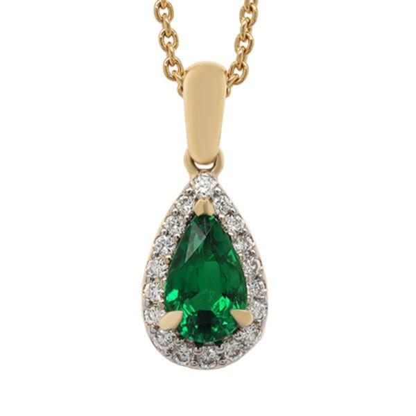 Kullast ripats teemantide ja smaragdiga Kood: 48m