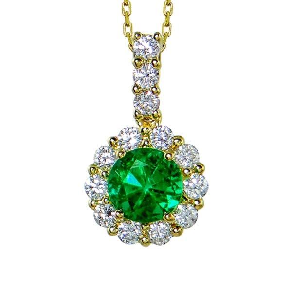 Kullast ripats teemantide ja smaragdiga Kood: 50m