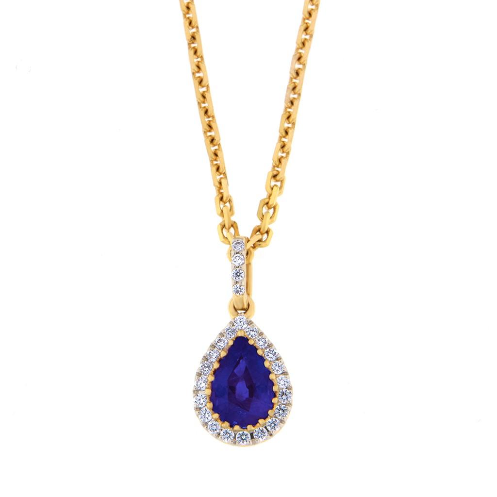 Kullast ripats teemantide ja safiiriga Kood: 45m