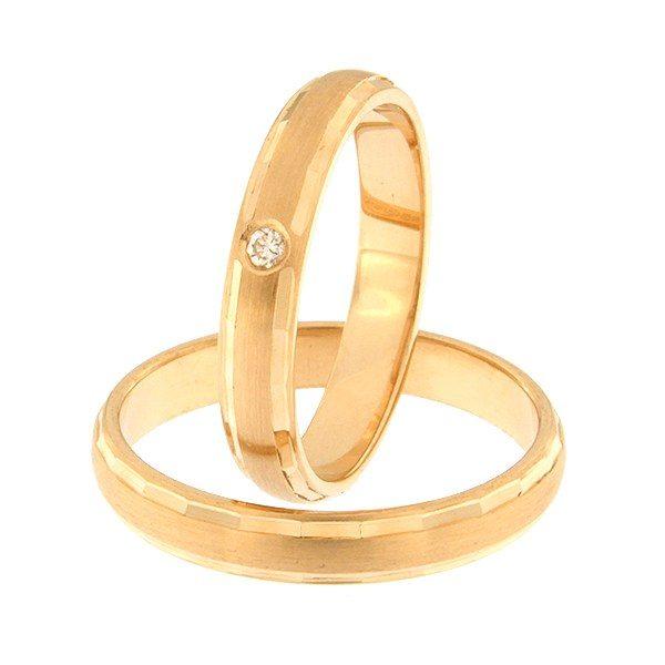 Kullast abielusõrmus teemantiga Kood: rn0102-3,5-1k