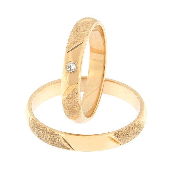 Kullast abielusõrmus teemantiga Kood: rn0110-3,5-1k