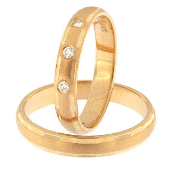 Kullast abielusõrmus teemantidega Kood: rn0102-3,5-3k