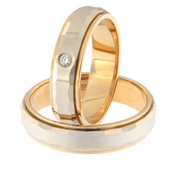Kullast abielusõrmus teemantiga Kood: rn0111-5l-pvl-ak-1k