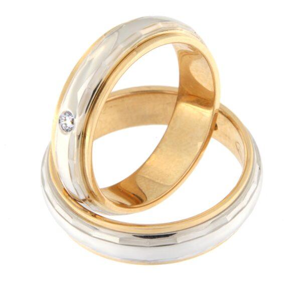 Kullast abielusõrmus teemantiga Kood: rn0112-5l-pvl-ak-1k