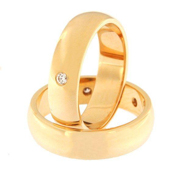 Kullast abielusõrmus teemantidega Kood: rn0116-5-1K