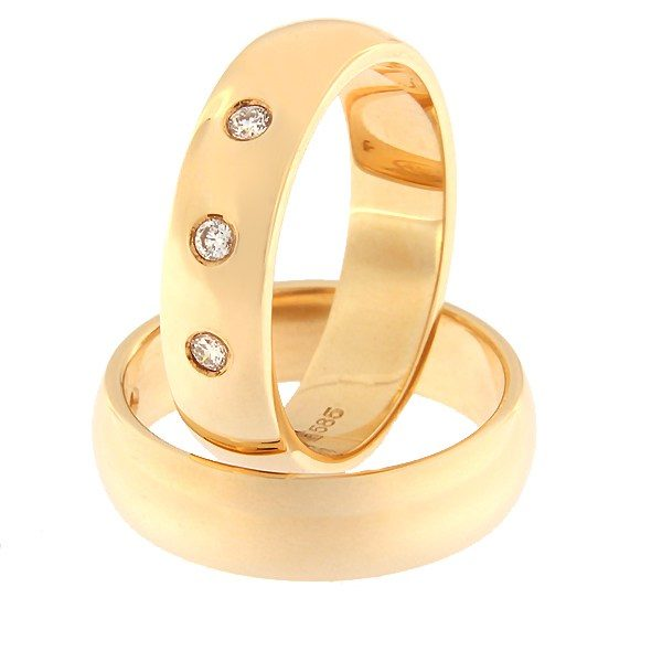 Kullast abielusõrmus teemantidega Kood: rn0116-5-3K