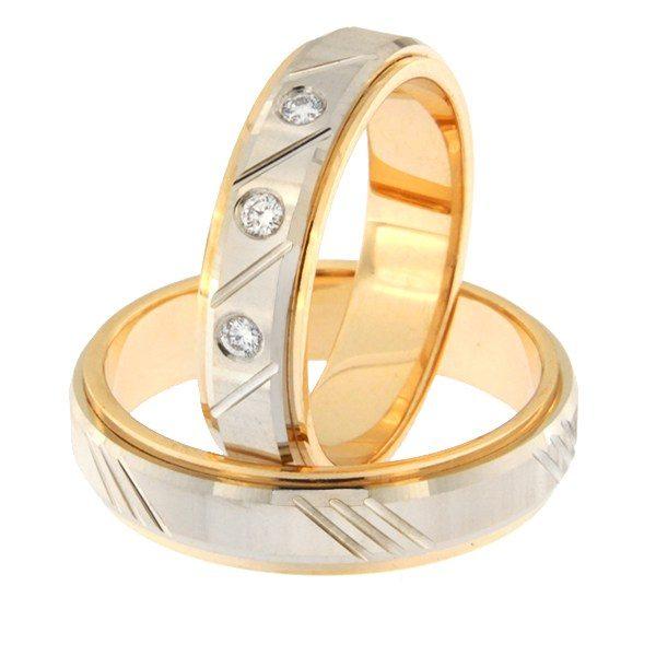 Kullast abielusõrmus teemantidega Kood: rn0138-5d-pv-ak-3k