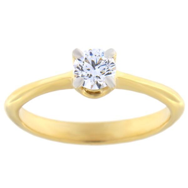 Kullast sõrmus teemantiga 0,50 ct. Kood: 1a/e8009