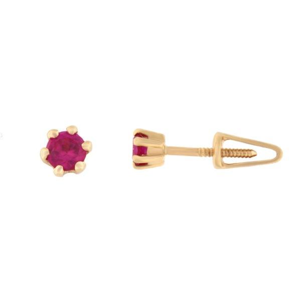 Kullast kõrvarõngad tsirkoonidega Kood: er0156-punane