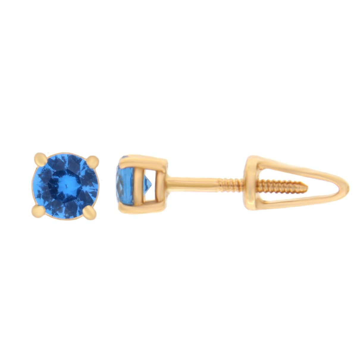 Kullast kõrvarõngad tsirkoonidega Kood: er0157-4-sinine
