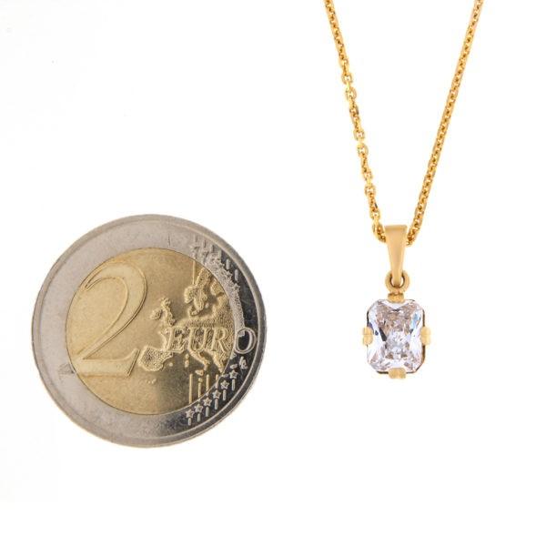 Kullast ripats tsirkooniga Kood: pn0122-6*8-valge
