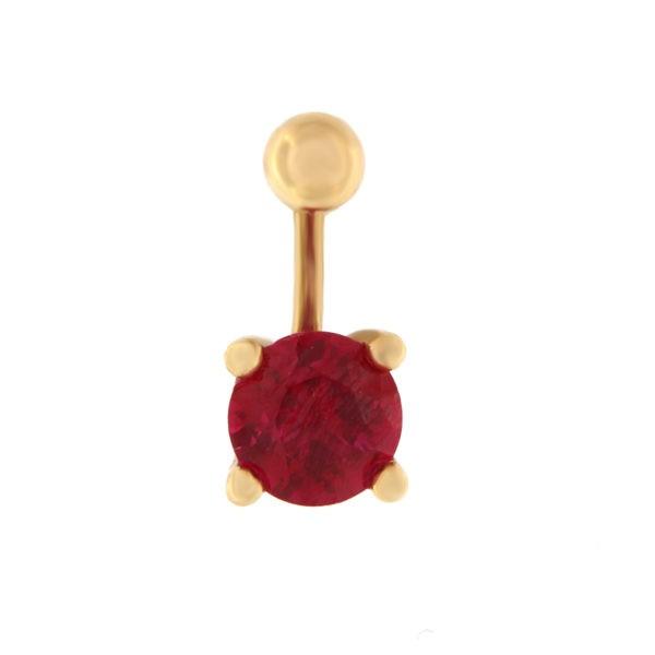Kullast nabarõngas tsirkooniga Kood: pn0141-punane
