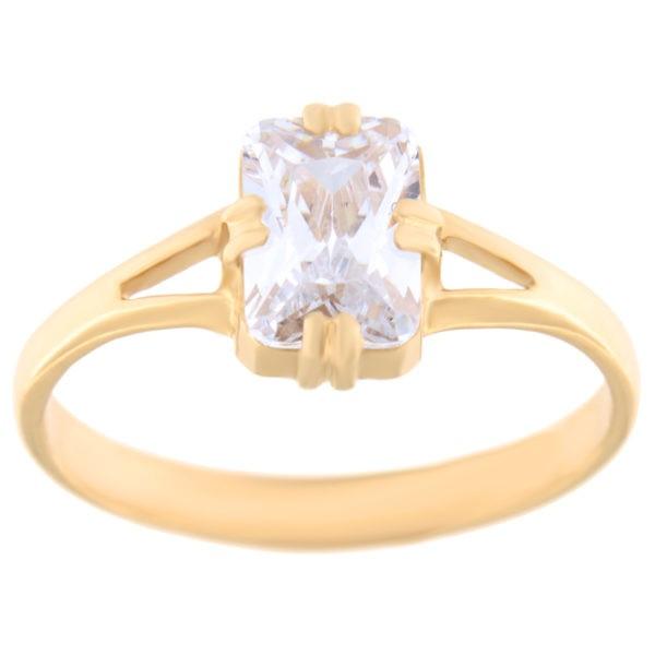 Kullast sõrmus tsirkoonidega Kood: rn0129-5*7-valge