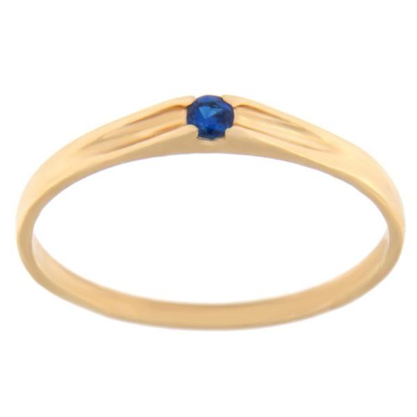 Kullast sõrmus tsirkooniga Kood: rn0122-sinine