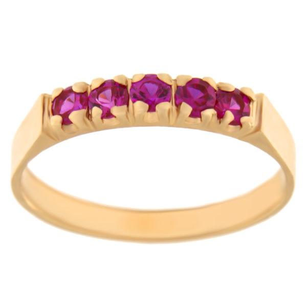 Kullast sõrmus tsirkoonidega Kood: rn0130-2,5-punane