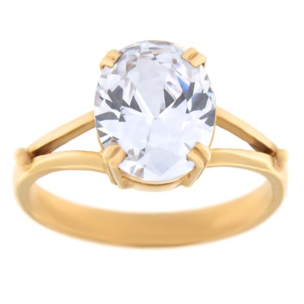 Kullast sõrmus tsirkooniga Kood: rn0146-valge