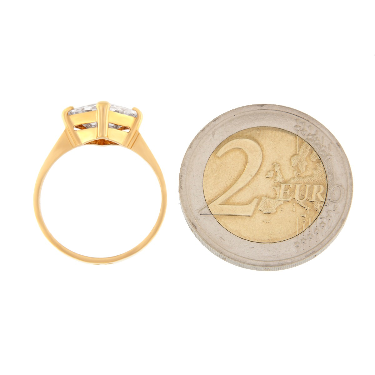 Kullast sõrmus tsirkooniga Kood: rn0149-valge
